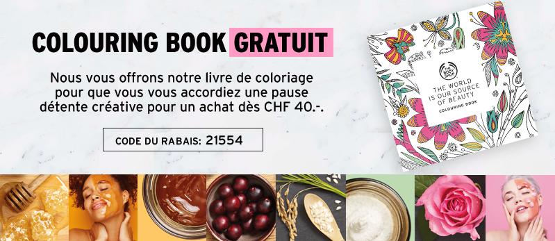 livre de coloriage gratuit pour un achat dès CHF 40.-